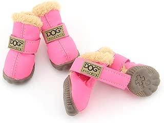 SENERY Winter Pet Walking Boots Casual Puppy Rain Snow Booties Waterproof Dog Shoes for Teddy Kitten