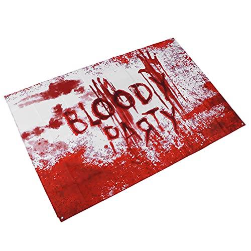 Telón De Fondo De Halloween, Estandarte Sangriento De Halloween Color Elegante Y Rápido Para Baños Para Patios Para Halloween(Una pancarta de Halloween)
