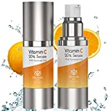 Vitamin C Topical Face Serum with Hyaluronic Acid - Hydration, Skin Tone Evener, Facial Serum Moisturizing Skincare For Brighter Skin and Face 1 oz.