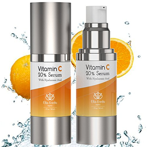 Vitamin C Serum for Face Vitamin C with Hyaluronic Acid + High Potency Anti-Aging Serum With Natural Ingredients - Reduces Sun Spots & Fine Lines Eliminates Visible Wrinkles