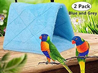 2 Pack Warm Bird Nest House, Magnoloran Bed Hanging Hammock Toy Sleeping Bed Plush Hanging Snuggle Cave Happy Hut for Pet Parrot Parakeet Cockatiel Conure Cockatoo African Grey Macaw Eclectus Amazon B