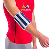 BraceAbility Elbow Stabilizer Brace | Elbow Immobilizer Splint & Arm Straightener for Sleeping at Night to Treat Inflammation, Injuries, Fractures, Cubital Tunnel & Ulnar Nerve Pain (Large)