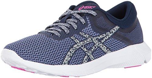ASICS Womens Nitrofuze 2, Zapatillas para Correr Mujer, Juwel Gletscher-Juwel, Color Gris y Rosa, 39 EU