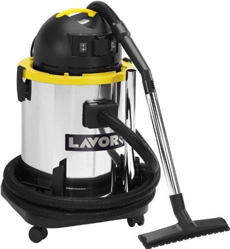 Lavorwash GB 50 XE Aspirateur pour Matières solides et liquides Capacité 50 litres Puissance 1 600 W Noir/Acier inoxydable/Jaune