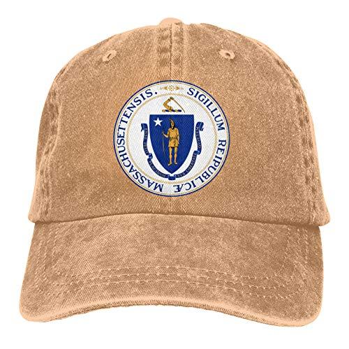 ZJLVMF Massachusetts Men/Women Cowboys Hats Baseball Hat Vintage Casquette Trucker Hat.