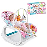 Uber World's Newborn-to-Toddler Portable Rocker with Vibration and Musical Mode, Supports up to 20 KG (44 lb), 0-36 Months