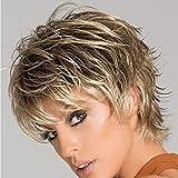 Qingcheng Short Haircut Wigs Synthetic Wigs for Black/White Women Short Hair Wigs with Bangs Hairstyles Women Wig (QC-wig030)