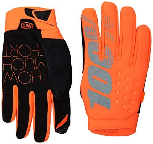 100% Erwachsene Brisker Handschuhe, Fluro Orange/Black, XXL