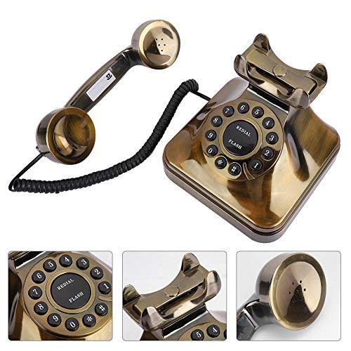 【𝐏𝐫𝐞𝒛𝒛𝐨 𝐏𝐢𝐮 𝐁𝐚𝐬𝐬𝐨 𝐍𝐚𝐭𝐚𝐥𝐞】 Telefono Fisso Antico Classico, Numero di riduzione del Rumore in Bronzo Telefono Vintage del Negozio, per la Decorazione Domestica della Famiglia