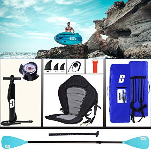 Tavola da SUP Stand Up Paddle Board Gonfiabile, Tavola da surf, sedile kayak, accessori completi, 305 x 76 x 15 cm, fino a 110 kg