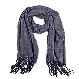 Hong-wei Schalsteine Herbst-Winter-Schal wie Kaschmir-Platz Coloring Plaid-Damen Mode Halte warmen Schal gardinen schals (Color : Grey, Size : 180-70)