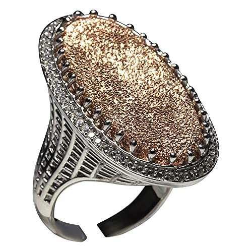 Hecho a mano de plata oval de las mujeres hechas a mano EL PRECIOUS DS0001