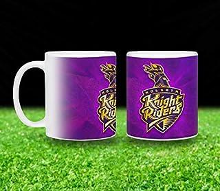 Vista 11oz IPL Team Printed Coffee Mugs- Kolkata Knight Riders Logo printed White Mug