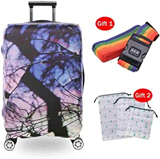 Suitcase Cover Luggage Elastic Non-Deformation Protective Cover Thick Wear-Resistant Flower Map Suitcase Protection Cover