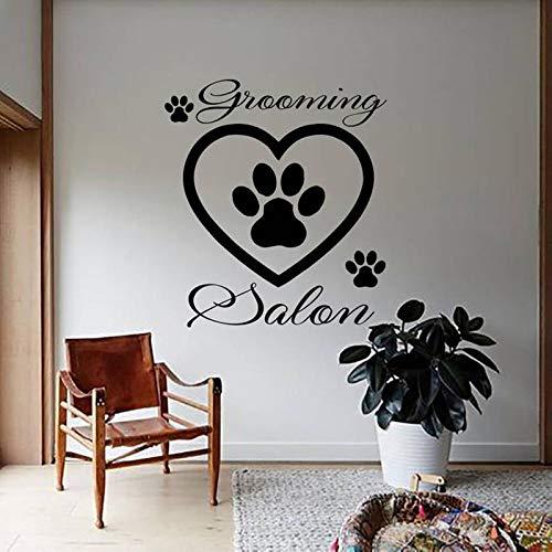 YIYEBAOFU Squad Muurstickers Peacedog Voetafdruk Muurstickers Voor Verzorging Salon Muurstickers Huisdecoratie Decal Muurschildering Shop Raamdecoratie