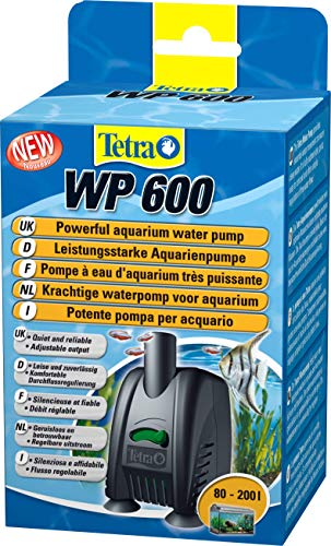 Tetra WP 600 Wasserpumpe für Aquarien - Leistungsstarke Aquarienpumpe, mit Durchlfussregulierung, für eine optimale Wasserzirkulation und klares Wasser, 80 - 200 Liter