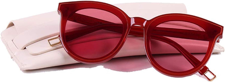 Polarized Sunglasses UV Predection Women UV Predection Sunglasses Premium Classic Small Round Polarized (color   Red)