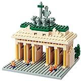 nanoblock 58514290 Sights to See - Puzzle en 3D (460 Piezas, Nivel de dificultad: 3, difícil), diseño de Puerta de Brandenburgo