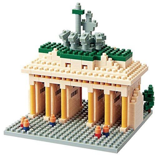 nanoblock 58514290 Sights to See   Puzzle en 3D (460 Piezas, Nivel de dificultad: 3, difícil), diseño de Puerta de Brandenburgo