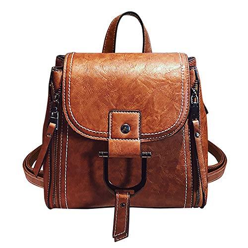 Mini dames rugzak PU waterdichte handtassen Messenger Koreaanse versie van de Wilden handtas mode van zacht leer schouder bruin