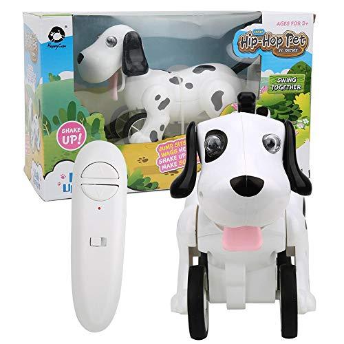 hong Perro Robot con Control Remoto, RC Interactivo Inteligente para Caminar, Baile, Robot programable, Juguetes para Cachorros, Mascotas electrónicas para niños, niñas, de 6, 7, 8, 9, 10 años y más