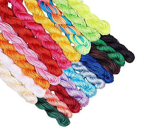 1mm Chinese Knotting Tassel Cord Nylon Thread Cord Beading String for Bracelet Necklace Making(20 Colors,About 430 Yards) -  Saundra Peal