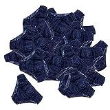 Hellery 50pcs Culottes Jetables Slips Homme/Femme de Non Tissé épaissie sous-vêtements Confortables pour Spas/ Massages - Bleu