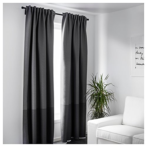 Ikea Block-out curtains, 1 pair, gray 2028.142023.2614