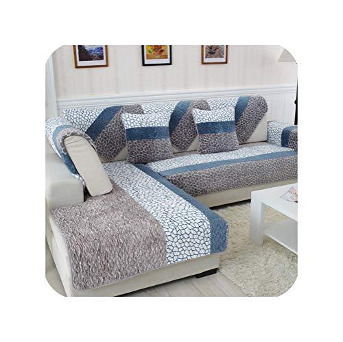 dudifeng Sofabezug aus Fleece, weich, modern, rutschfest, für Wohnzimmer, Multi, 45x45 Cushion Cover
