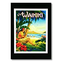 ハワイアンポスター フラガールシリーズ <Greeting From Hawaii エリクソン> F-26
