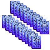 NEMT 20x Flacher Kühlakku 800 ml Kühlakkus 25 x 32,5 x 1,5 cm Kühlelemente Kühltasche Kühlbox