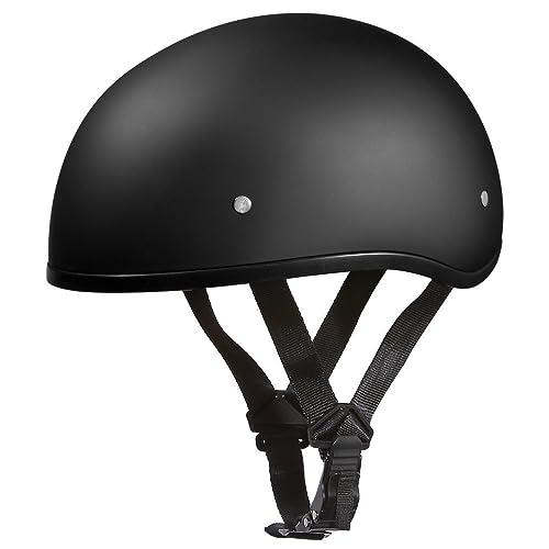 D.O.T. DAYTONA SKULL CAP W/O VISOR- DULL BLACK