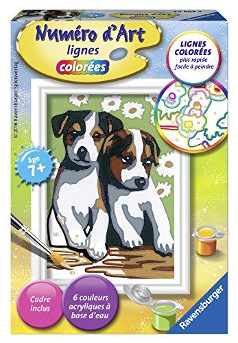 Ravensburger 29507 - Número de Arte - Mini Formato - Dos Cachorros pequeños - Ocio Creativo - Pintura - Niños a Partir de 7 años