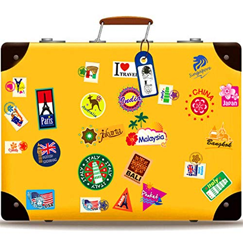 JIAPAI Retro Travel label boarding pass air tickets creative suitcase sticker for laptop luggage bags bicycle cool phone Fridge decals