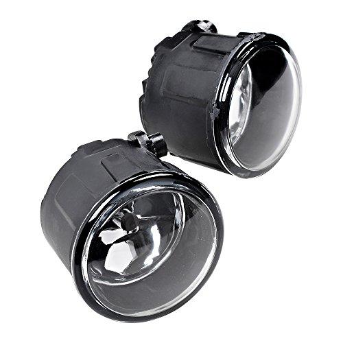 2pcs Fog Light Front Bumper + H11 Halogen Bulb Compatible with Nissan Cube Juke Murano Quest Rogue Versa