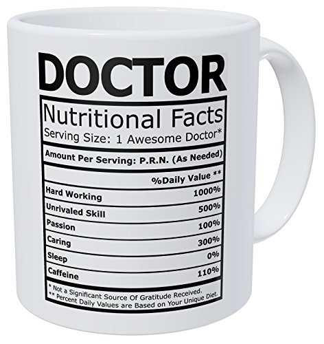 Wampumtuk Doctor Nutritional Fatcs 11 Ounces Funny Coffee Mug