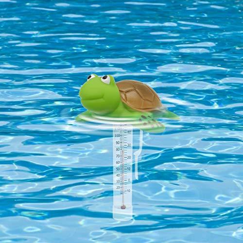 Bumplebee Lustig Poolthermometer Schwimmend Funk, Tier Pool Thermometer Wasserdicht, Schwimmbadthermometer, Schwimmtemperatur Teste für Außen Innen Schwimmbad Spas Aquarien (A, One Size)