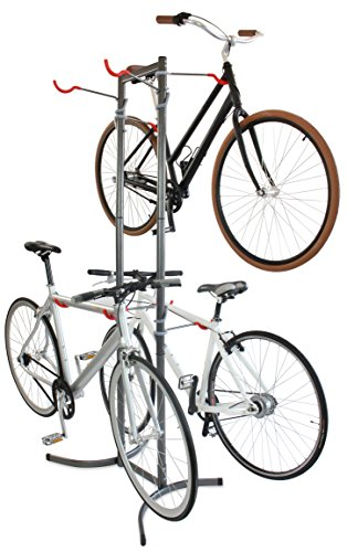 Delta Cycle & Home Michelangelo Canaletto Two Four Bike Gravity Stand Garage Indoor Storage Adjustable , Grey, Large