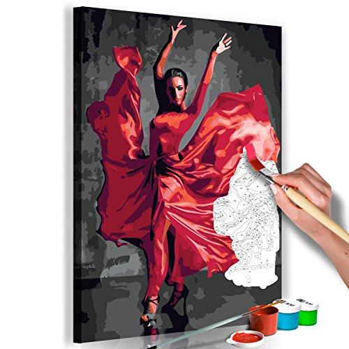 murando Pintura por Números Cuadros de Colorear por Números Kit para Pintar en Lienzo con Marco DIY Bricolaje Adultos Niños Decoracion de Pared Regalos - Flamenco 40x60 cm - DIY n-A-0469-d-a
