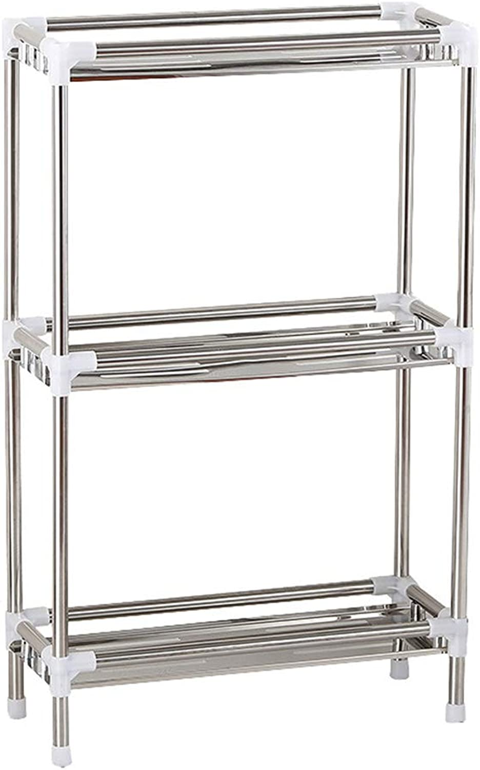 Household Stainless Steel Floor Storage Rack Bathroom Multi-Layer Finishing Rack