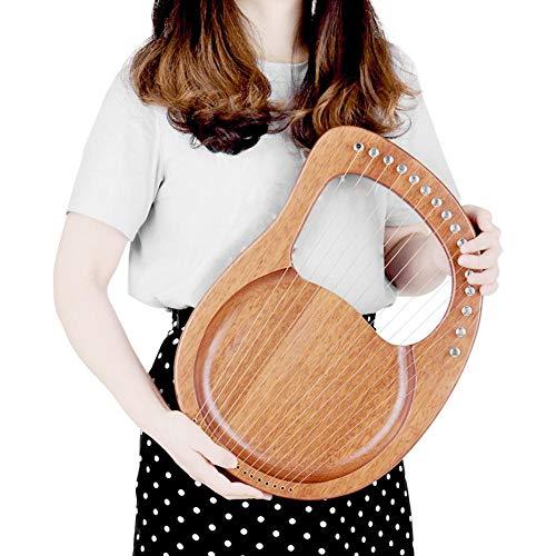 YAYADU-Foam Puzzle Mat Massivholz Saiteninstrument, 16 Saite Kleine Harfe, Sound Cord Board Mit Stimmschlüssel Und Handtasche Für Anfänger Erwachsene, Kind (Color : Wood Color, Size : 38x23x3.5cm)