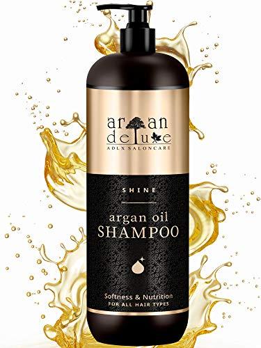 Argan Deluxe Shampoo in Friseur-Qualität 1000 ml - VERBESSERTE REZEPTUR - stark pflegend mit Arganöl für Geschmeidigkeit & Glanz - für Damen und Herren