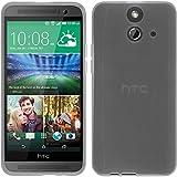 PhoneNatic Case kompatibel mit HTC One E8 - weiß Silikon Hülle transparent + 2 Schutzfolien