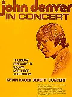 John Denver in Concert - 1971 - Northrop Auditorium - Concert Poster
