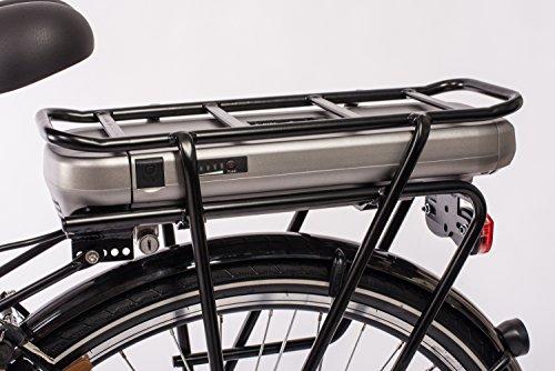 Telefunken E-Bike Elektrofahrrad Alu, weiß, 7 Gang Shimano Nabenschaltung – Pedelec Citybike leicht, Mittelmotor 250W und 10Ah/36V Lithium-Ionen-Akku, Reifengröße: 28 Zoll, Multitalent C750 Bild 3*