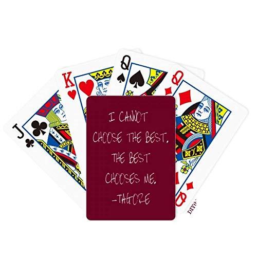 OFFbb-USA Qoutes Healing Sentences Best Choose Me Poker Playing Card Tabletop Board Game