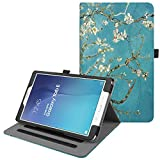 Fintie Housse pour Samsung Galaxy Tab E 9,6' T560N / T561N - Multi Angles Etui Coque Case Cover de Protection avec Auto Sleep/Wake Function et Carte de Documents Pocket, Blossom