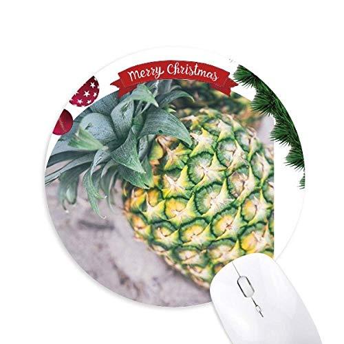 Tropische Früchte Photogrph Ananas Bild Rund Gummi Maus Pad Weihnachtsbaum Mat