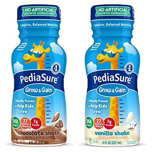 Price comparison product image PediaSure Grow & Gain Kids Nutritional Shake,  with Protein,  DHA,  and Vitamins & Minerals,  Variety Pack,  8 fl oz,  24-Count