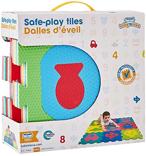 Baby to Love 350147 - Alfombra de juego y gimnasio, diseño Puzzles